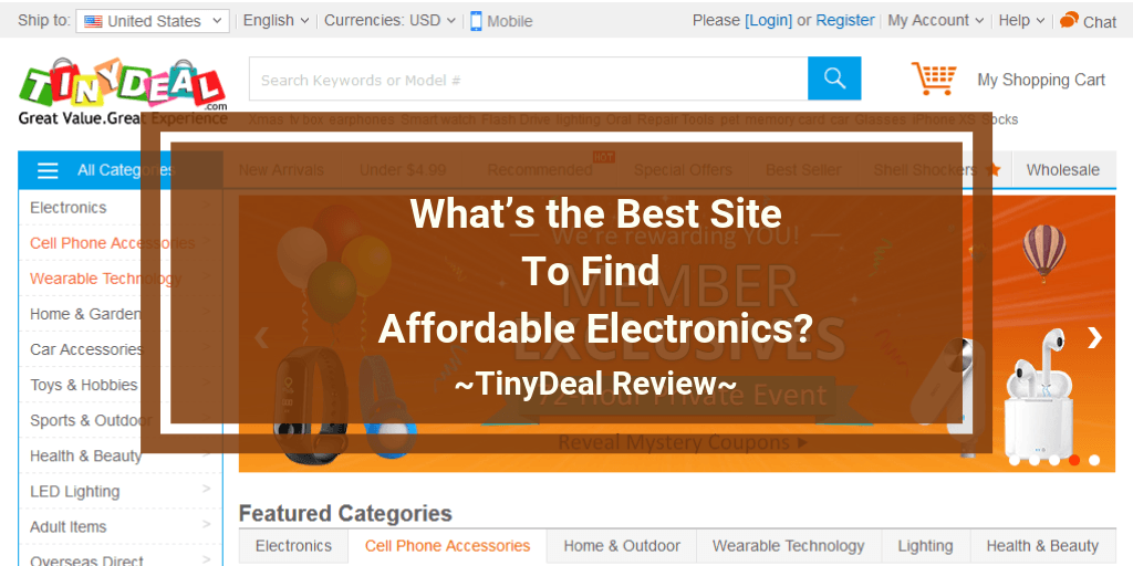 TinyDeal Review