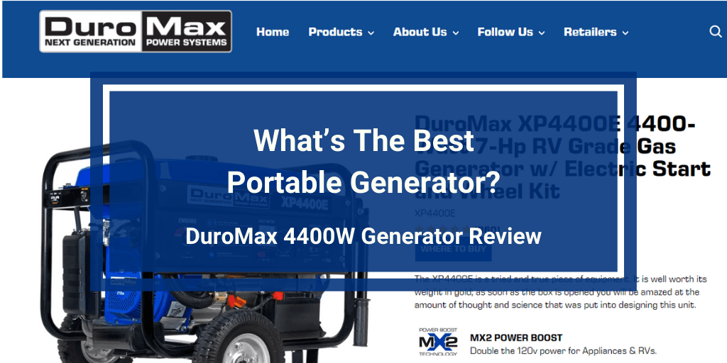 DuroMax XP4400E 4400 Watt Generator review